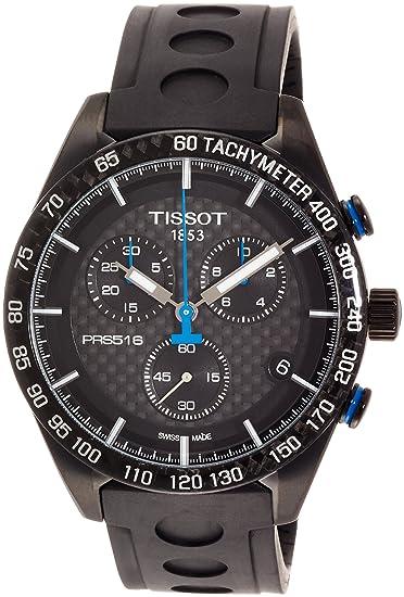 TISSOT RELOJ DE HOMBRE CUARZO 42MM CRONÓGRAFO CORREA DE GOMA T1004173720100: Tissot: Amazon.es: Relojes