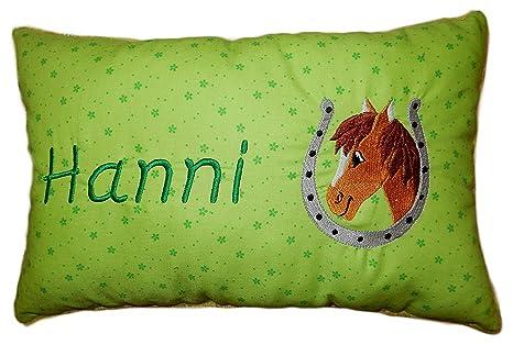 Verde Cojín * * - Cojín caballo * con nombre bordado * en ...