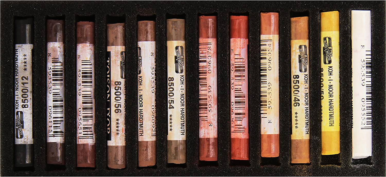 Koh-I-Noor - Tizas pastel blandas, en tonos marrones.: Amazon.es: Oficina y papelería