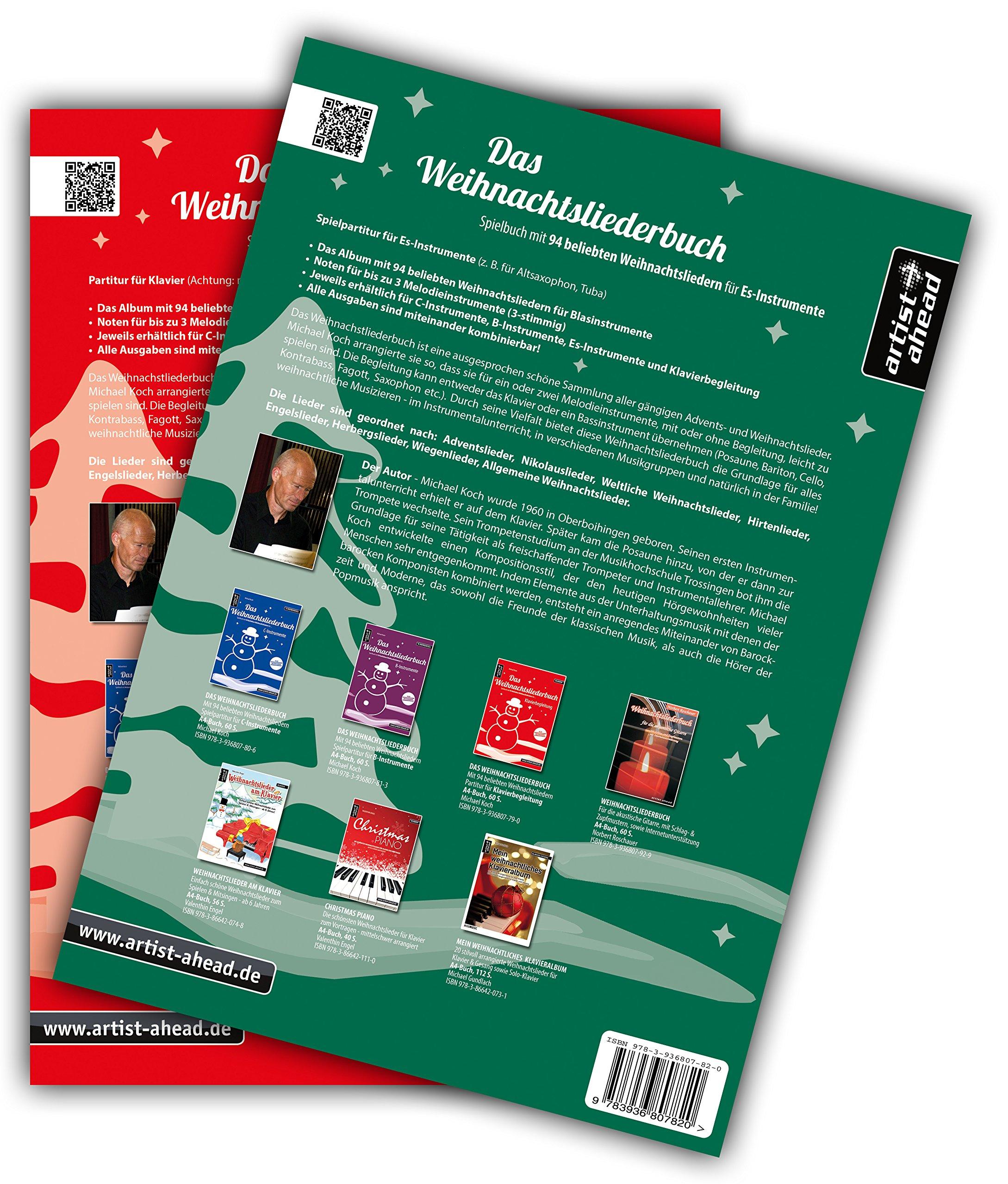 Das Weihnachtsliederbuch-Set: 2 Spielbücher mit 94 beliebten ...