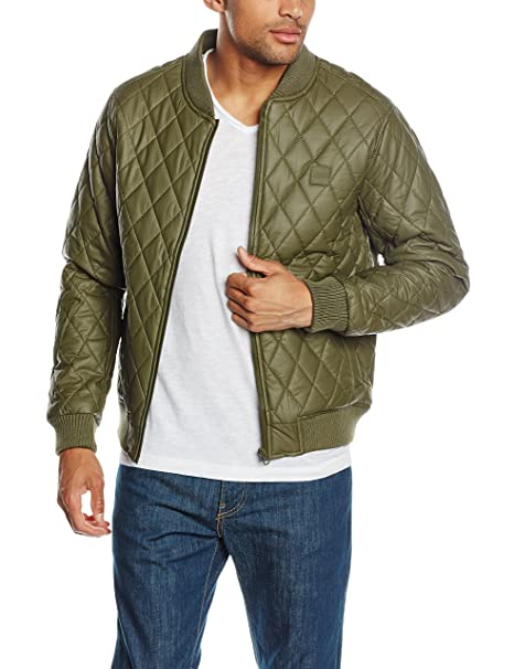 Urban Classics Diamond Quilt Leather Imitation Jacket, Chaqueta para Hombre, Verde (Olive 176), XX-Large: Amazon.es: Ropa y accesorios