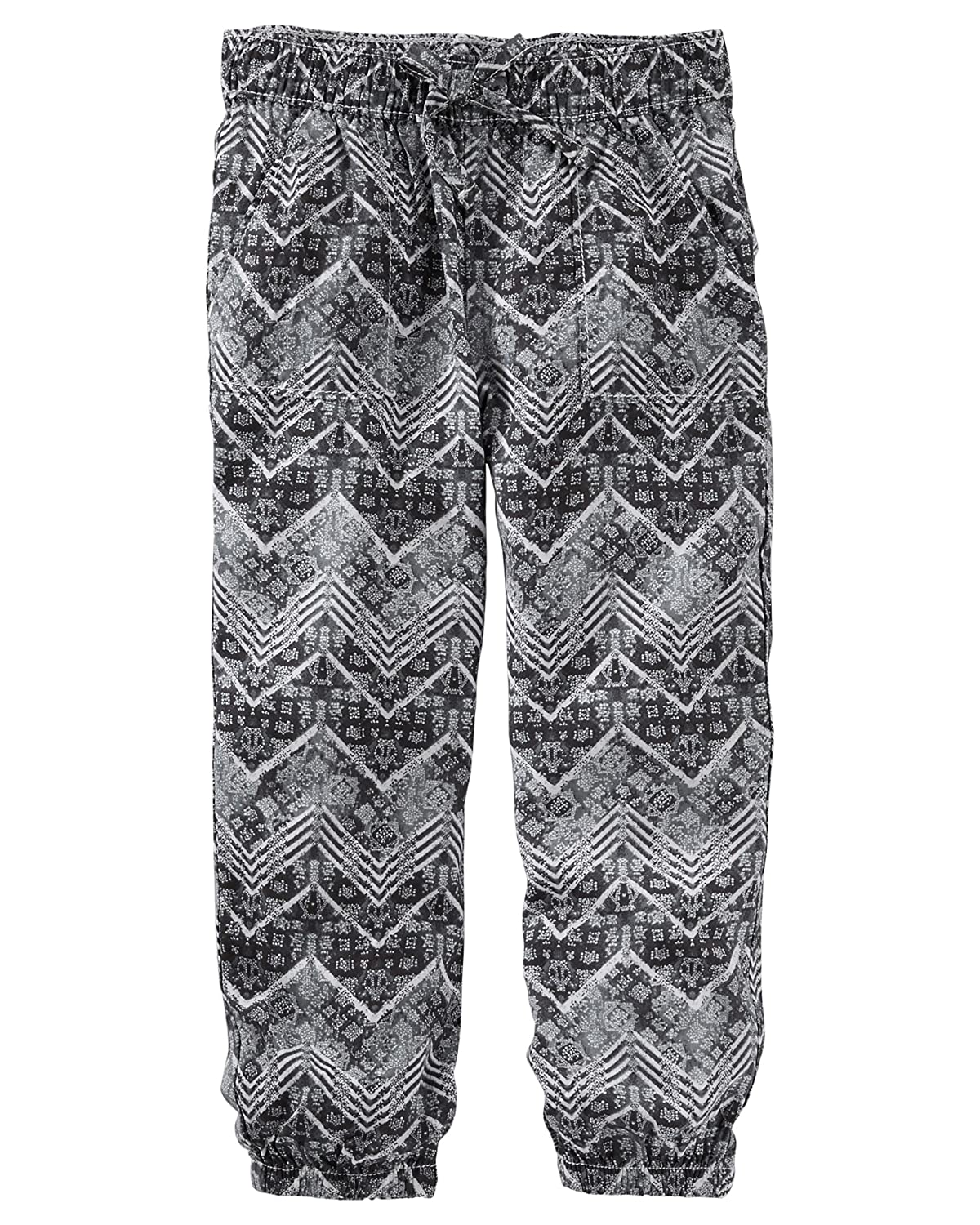 6X OshKosh Girls Chevron Print Joggers; Black and White