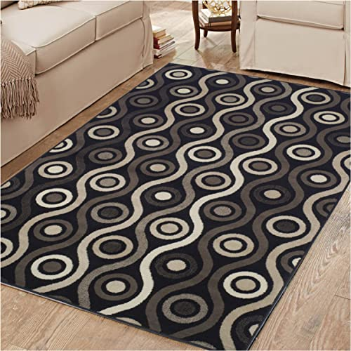 Superior Archer Collection Area Rug, 8mm Pile Height with Jute Backing, Bold Modern Geometric Pattern, Fashionable and Affordable Rugs, 2 7 x 8 Runner