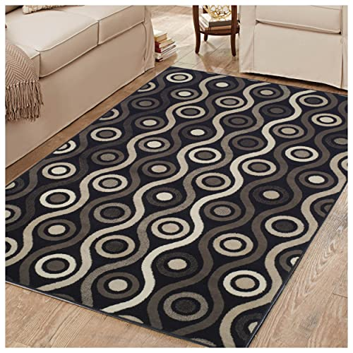 Superior 8mm Pile Height with Jute Backing, Bold Modern Geometric Pattern, Fashionable and Affordable Rugs, 5 x 8 Rug
