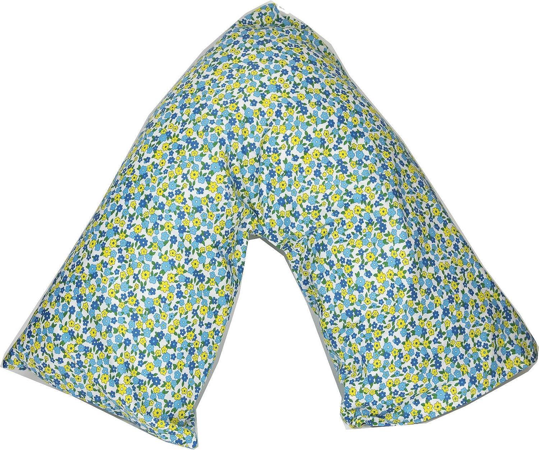 Starhomeware Poly-Cotton Back /& Neck Support Printed V Shaped Orthopedic//Pregnancy//Nursing Pillow Case Pattern 03