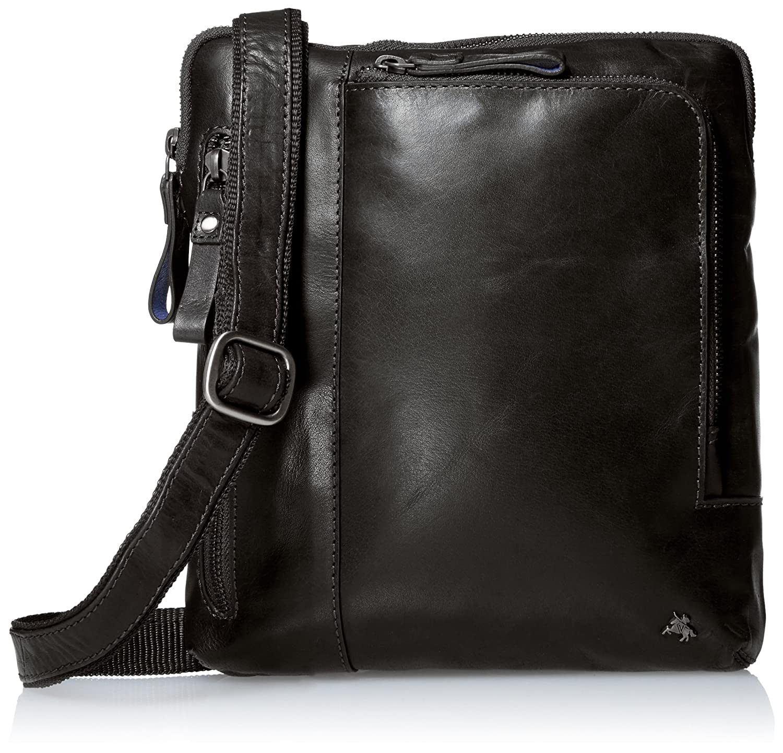 Visconti Buffalo Leather Messenger Shoulder Crossbody Bag//Handbag Brown