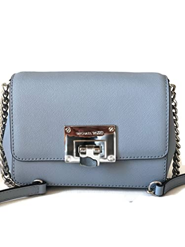 13226dc536f7 MICHAEL Michael Kors Tina Small Saffiano Leather Clutch Crossbody Bag - Pale  Blue