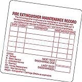 10 x Fire Extinguisher Maintenance Record Sticker Printed Vinyl Label Factory Shop