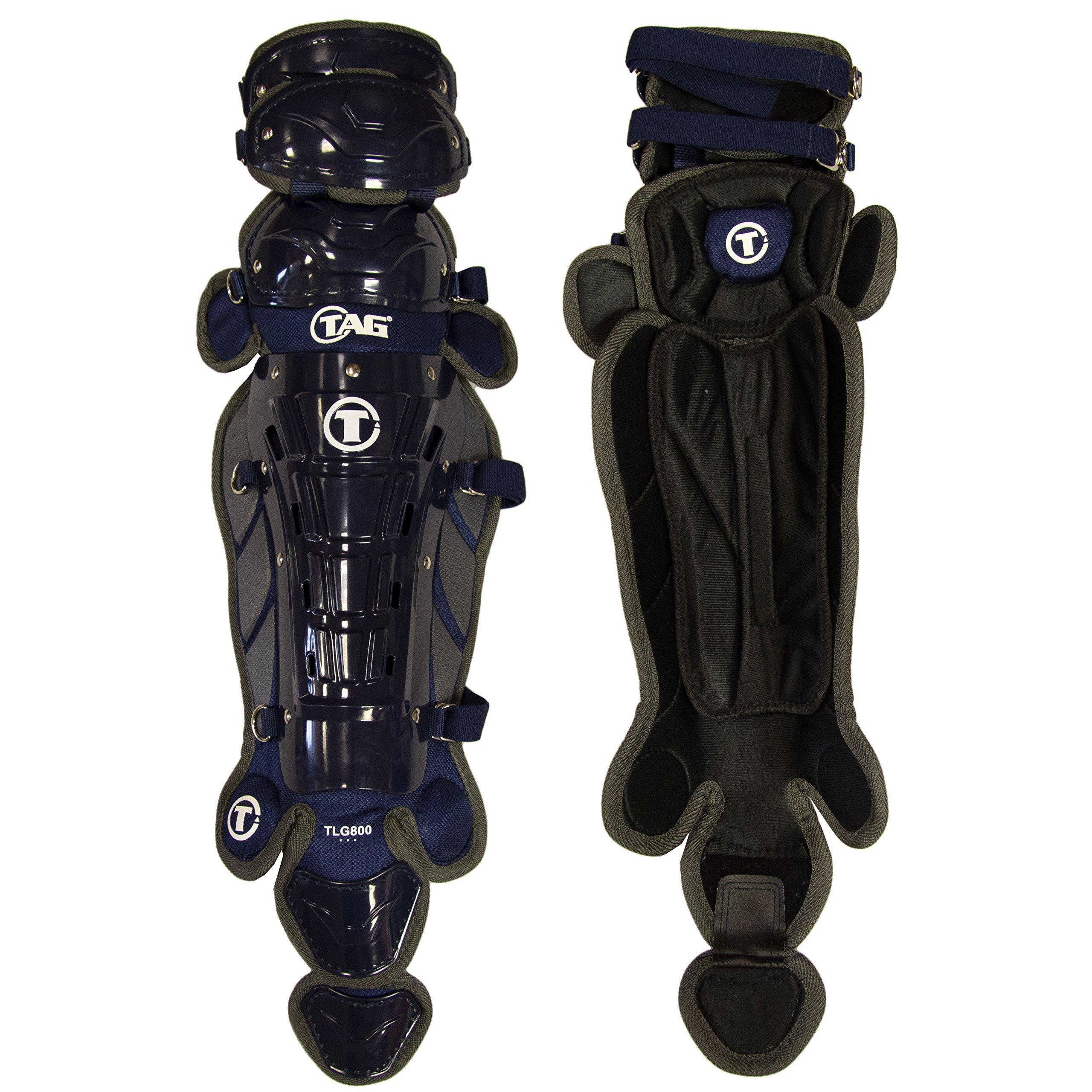 TAG 16'' Pro Series Women's Leg Guard, Navy/Grey by TAG