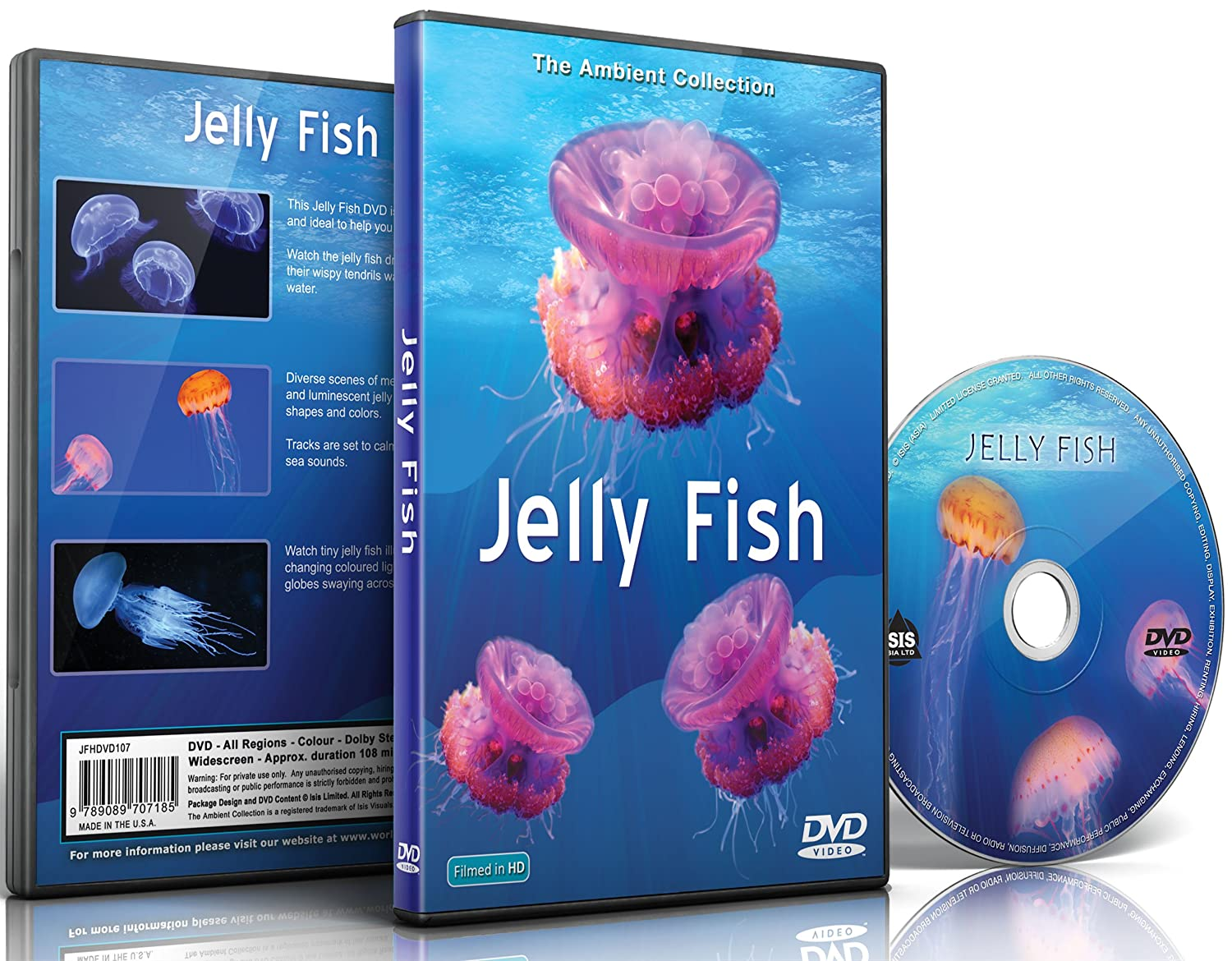 Amazon com jelly fish dvd with relaxing scenes of sea jellies for