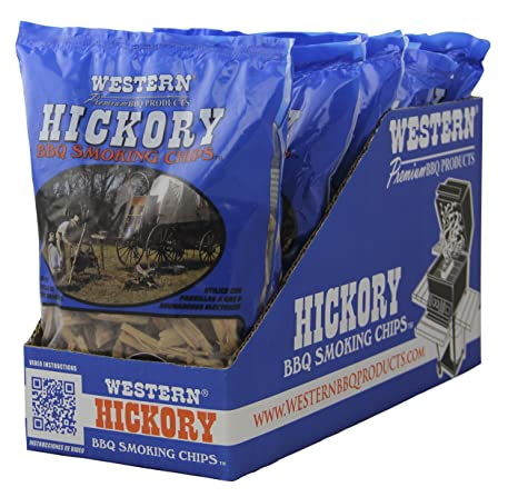 Western Premium BBQ Products Hickory Smoking Chips, 6 Pack