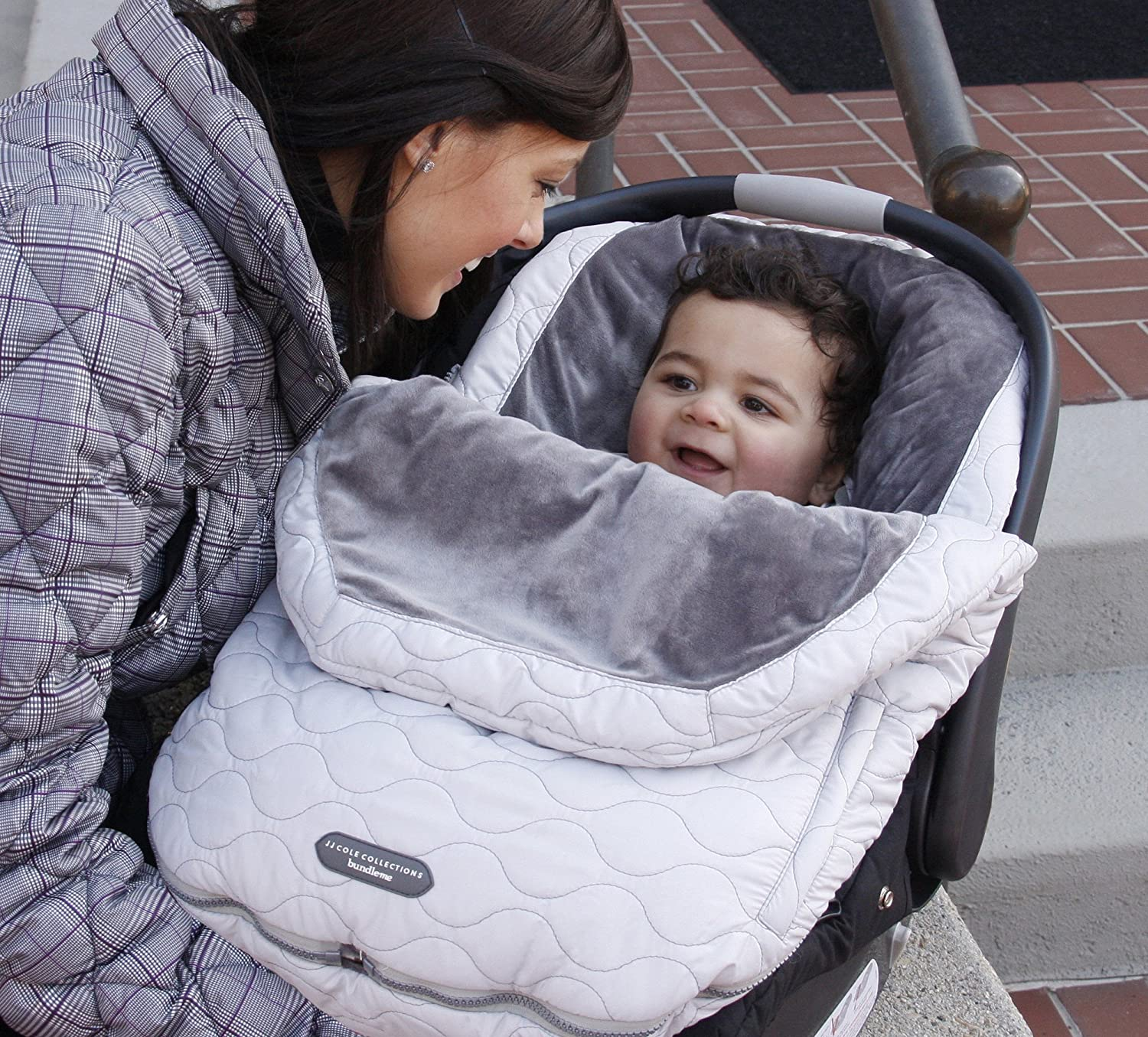 JJ Cole Canopy Style Bunting Bag to Protect Baby from Cold /& Winter Weather in Car Seats /& Strollers Urban Bundleme Infant Blush Pink