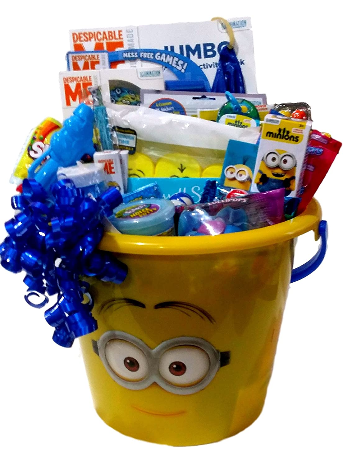 Despicable Me Minions Easter Basket: Gift Pail of Minion Activities & Candy An 11 inch tall Minion pail loaded with Minions Activites, Candy & novelties !