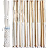 Curtzy Set of 14 Afghan Bamboo Crochet Hooks - 34cm Wooden Hook Kit with Free Storage Case - Ideal for Crocheting, Lace, Doilies & Flower Projects - The Best Set for Beginner and Professional