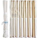 Set 14 Agujas Ganchillo Bambú Afgano por Curtzy - Kit Agujas de Madera de 34cm con