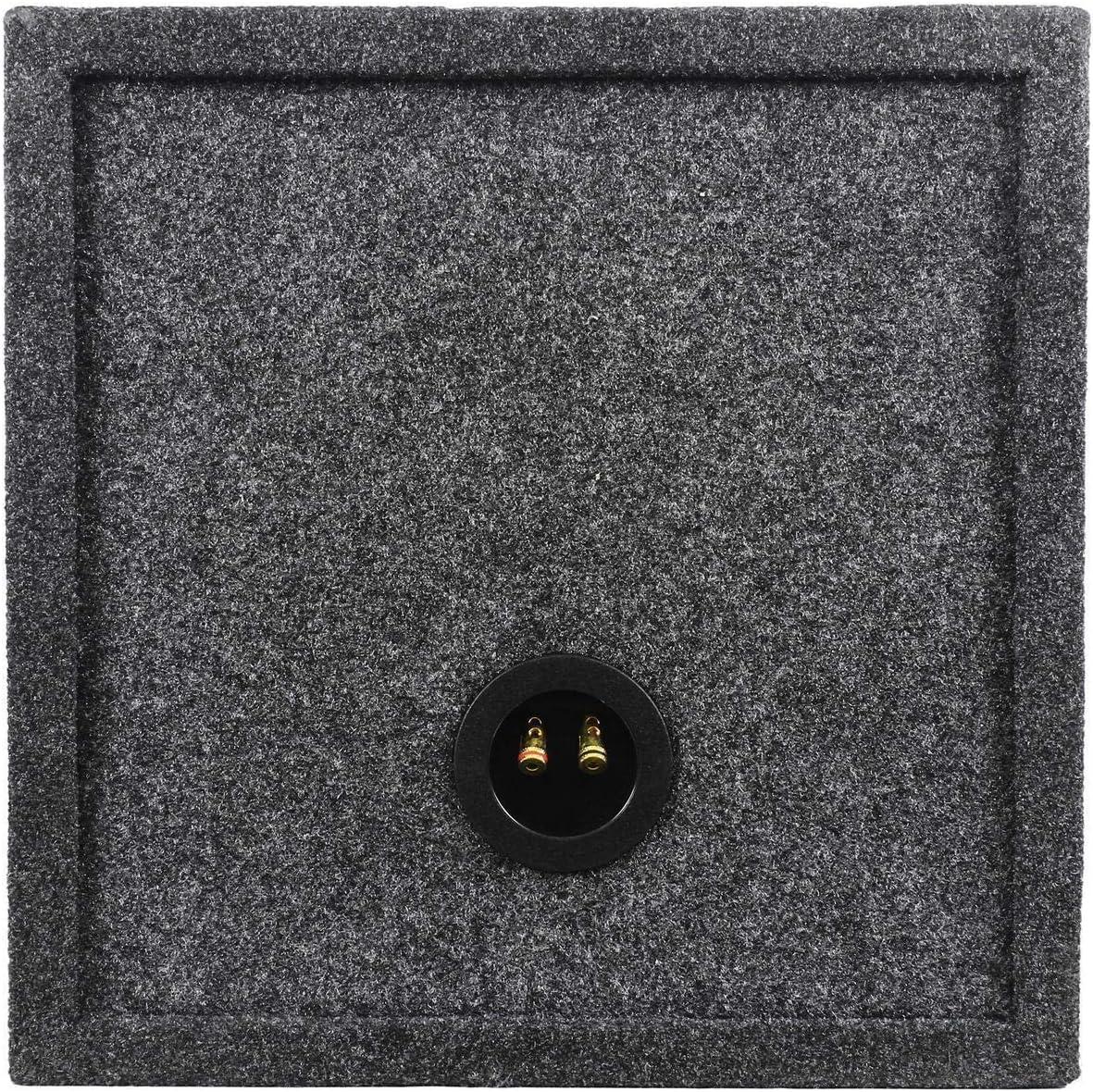 Rockville RD12 Dual 12 1.25 cu.ft 3//4 MDF Sealed Subwoofer Enclosure Sub Box