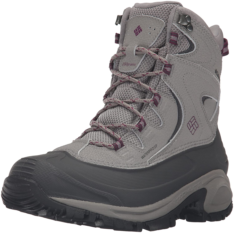 Columbia Women's Bugaboot II Snow Boot B0183KTKRM 8.5 B(M) US|Light Grey, Dark Raspberry