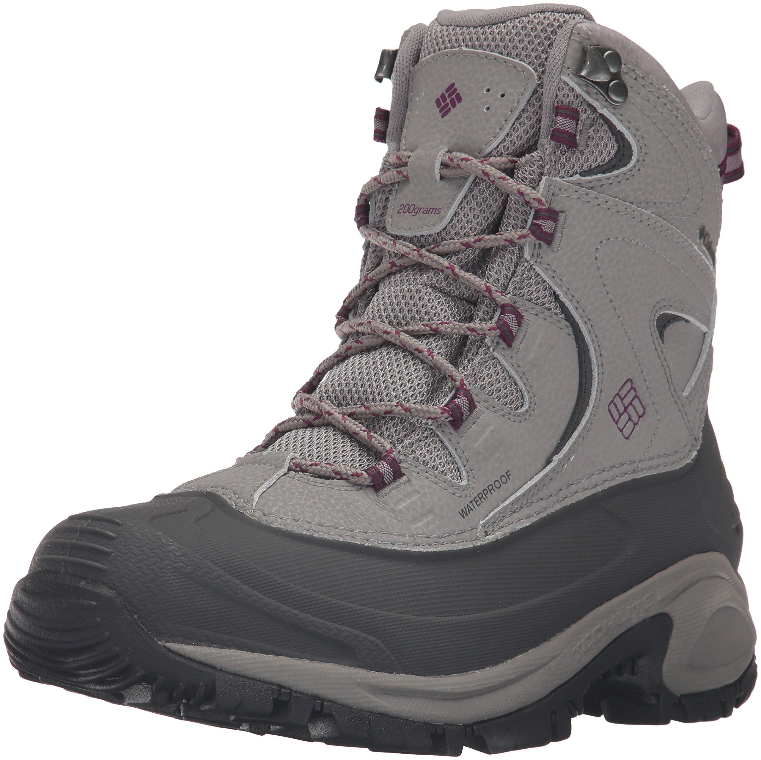 Columbia Women's Bugaboot II Snow Boot, Light Grey/Dark Raspberry, 9.5 B US