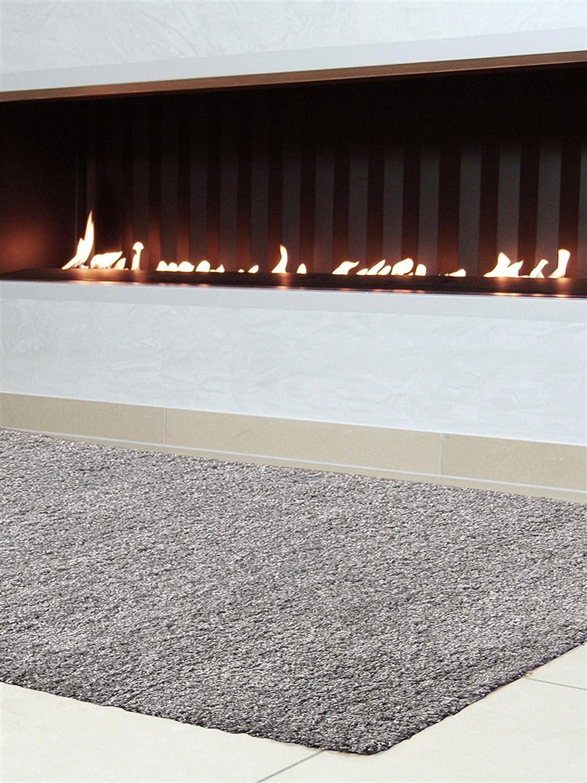 Grauer teppich  benuta Hochflorteppich Swirls Shaggy Langflor Grau 80x150 cm ...