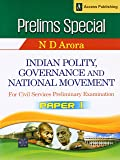 Indian Polity, Governance and National Movement for Civil Services Preliminary Examination Paper 1