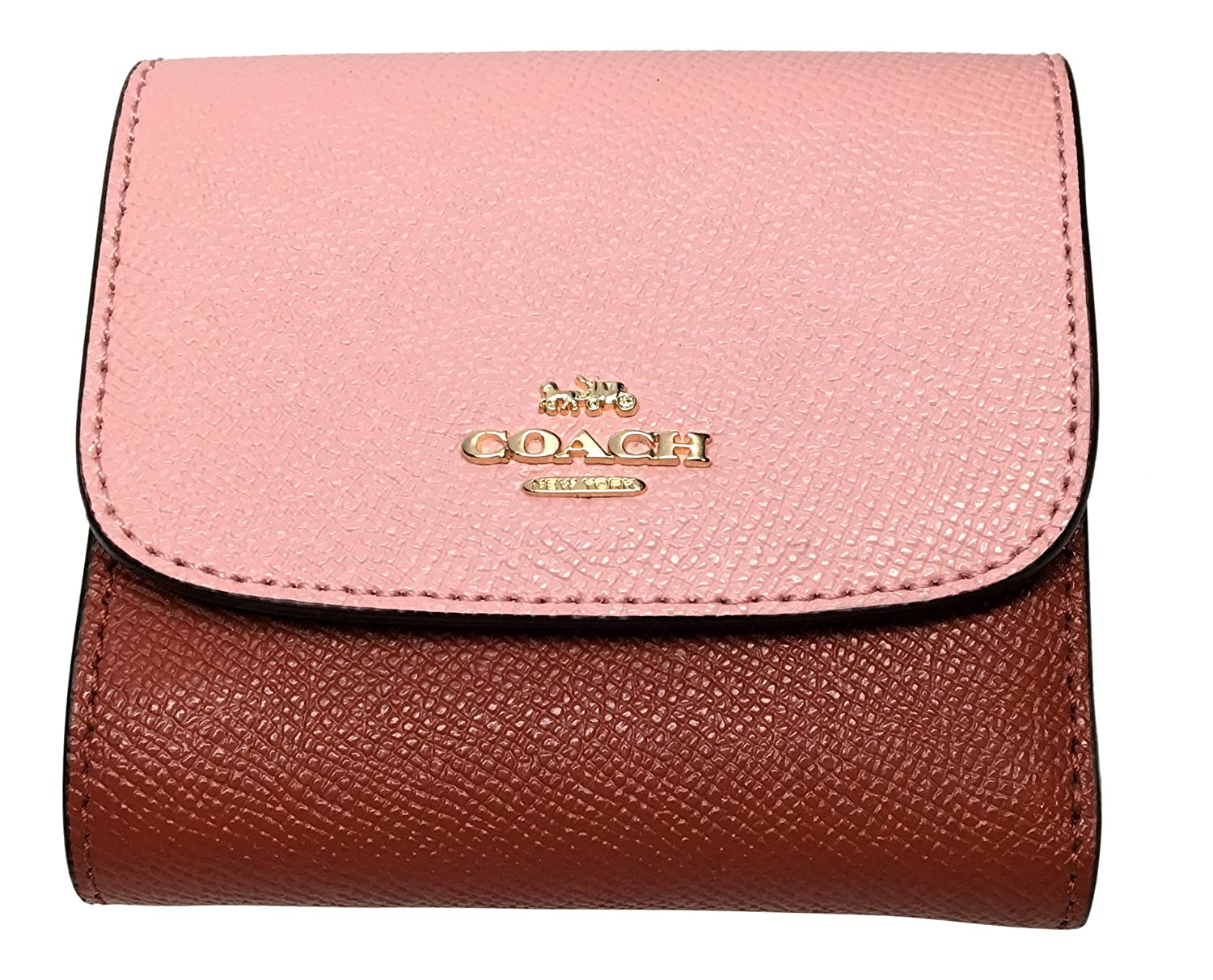 COACH Color Block Small Wallet In Crossgrain Leather Blush ...