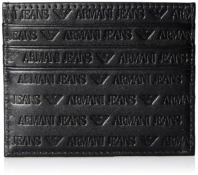 Armani Jeans Uomo Portafoglio in pelle Logo Card Nero Unica Taglia   Amazon.it  Abbigliamento 4ca33963e60