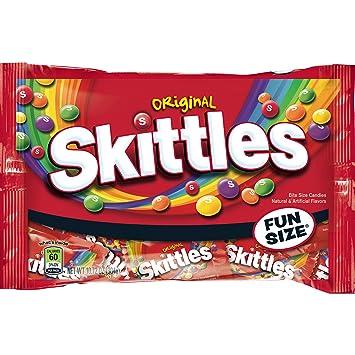 5189ac3c62d Amazon.com   SKITTLES Original Fun Size Halloween Candy 10.72-Ounce ...
