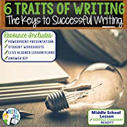 The Six Traits of Writing Essay Resource Lesson in Introduction to Writing - Activity with PowerPoint, Student Worksheets, D