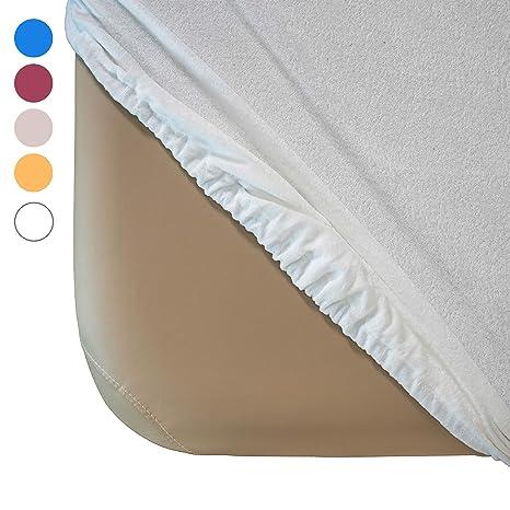 Housse housse couleur Zen blanc tissu éponge Drap c4SqjL53AR