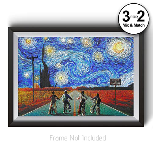 Stranger Things Poster - Van Gogh Wall Art Print featuring famous ...