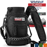 Wild Wolf Outfitters - #1 Best Water Bottle Holder for 32 oz Bottles - Carry, Protect and Insulate Your Flask with This Military Grade Carrier w/ 2 Pockets and an Adjustable Padded Shoulder Strap.