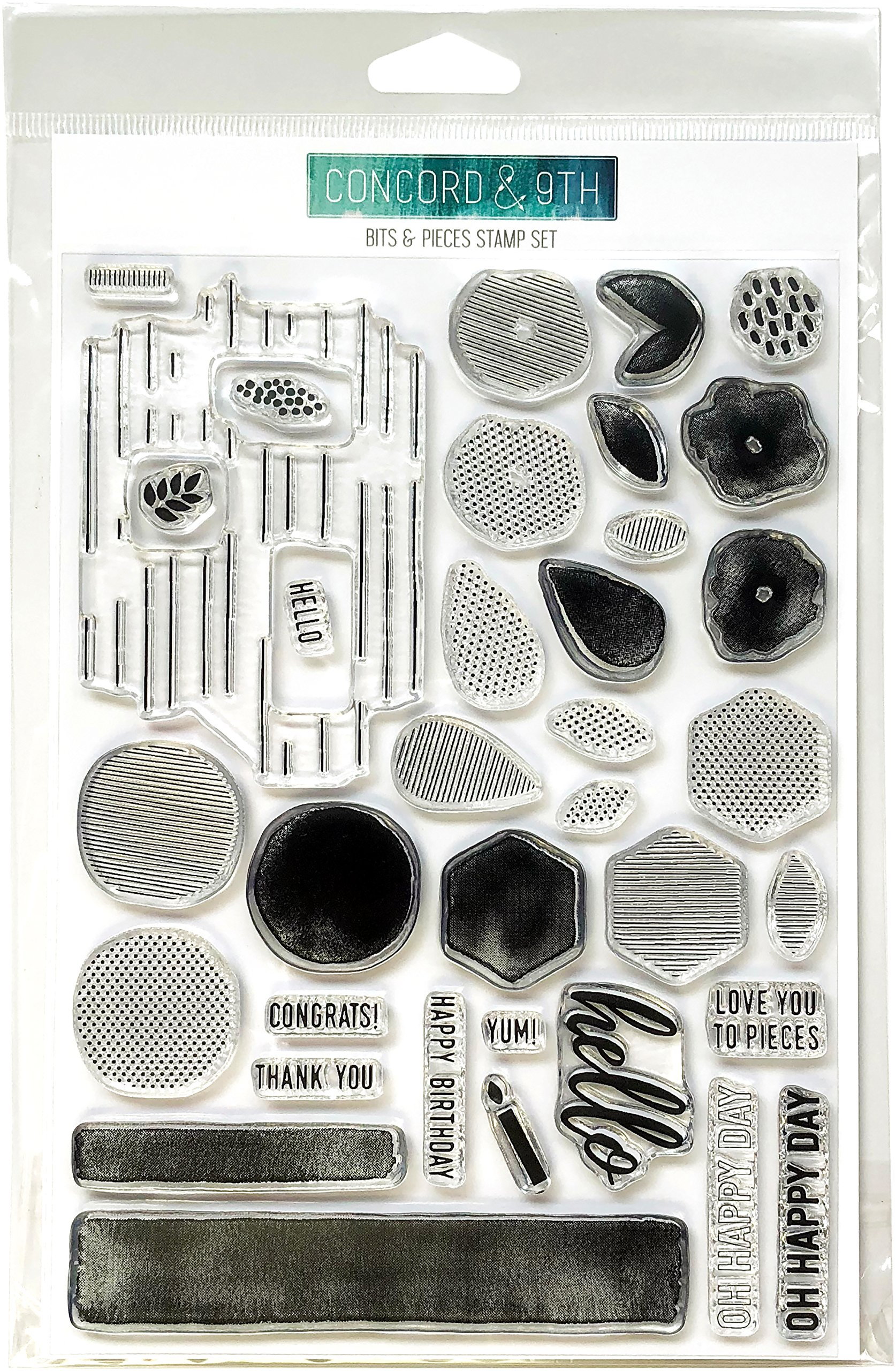 Concord & 9th Bits & Pieces Clear Stamps 6''X8''