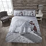 Ours polaire Parure de lit avec housse de couette et 2Taie d'oreiller Parure de lit, Multicolore, King