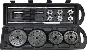 Dumbbell & Barbell Set, 1 Rod & 2 bar, Weight: 50 KG [LP50Kgs-Box]