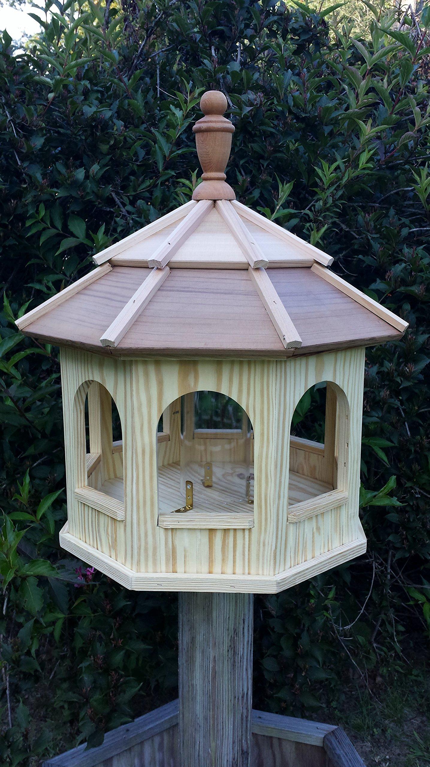 Wooden Gazebo Birdfeeder (Large) by Amish Crafted