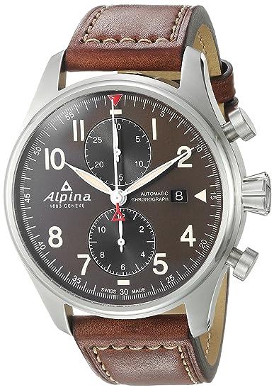 ALPINA STARTIMER Pilot Reloj DE Hombre AUTOMÁTICO 44MM AL-725GR4S6: Amazon.es: Relojes