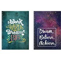 Lauret Blanc Combo Daily Planner and Organizer, Schedule Your Day, Achieve Goals, to Do Lists, Affirmation and Gratitude Journal- A5, 160 Pages Each, 80 GSM, Plan for 80+80 Days. Set of 2 (Style 5)
