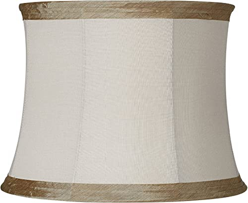 Ivory Linen with Taupe Trim Lamp Shade 14x16x12 Spider – Springcrest