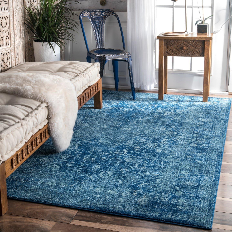 nuLOOM Herminia Vintage Trellis Area Rug, 8 x 10 , Blue