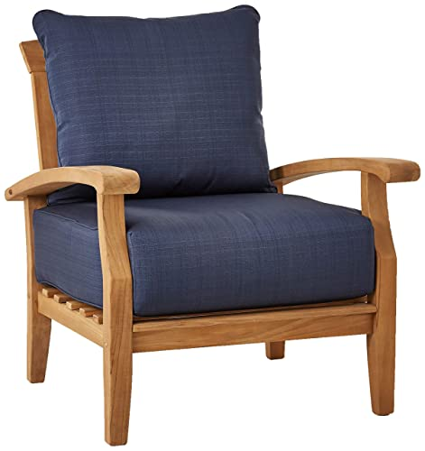 Cambridge-Casual AMZ-120564T-NV Auburn, Lounge Chair, Teak Navy
