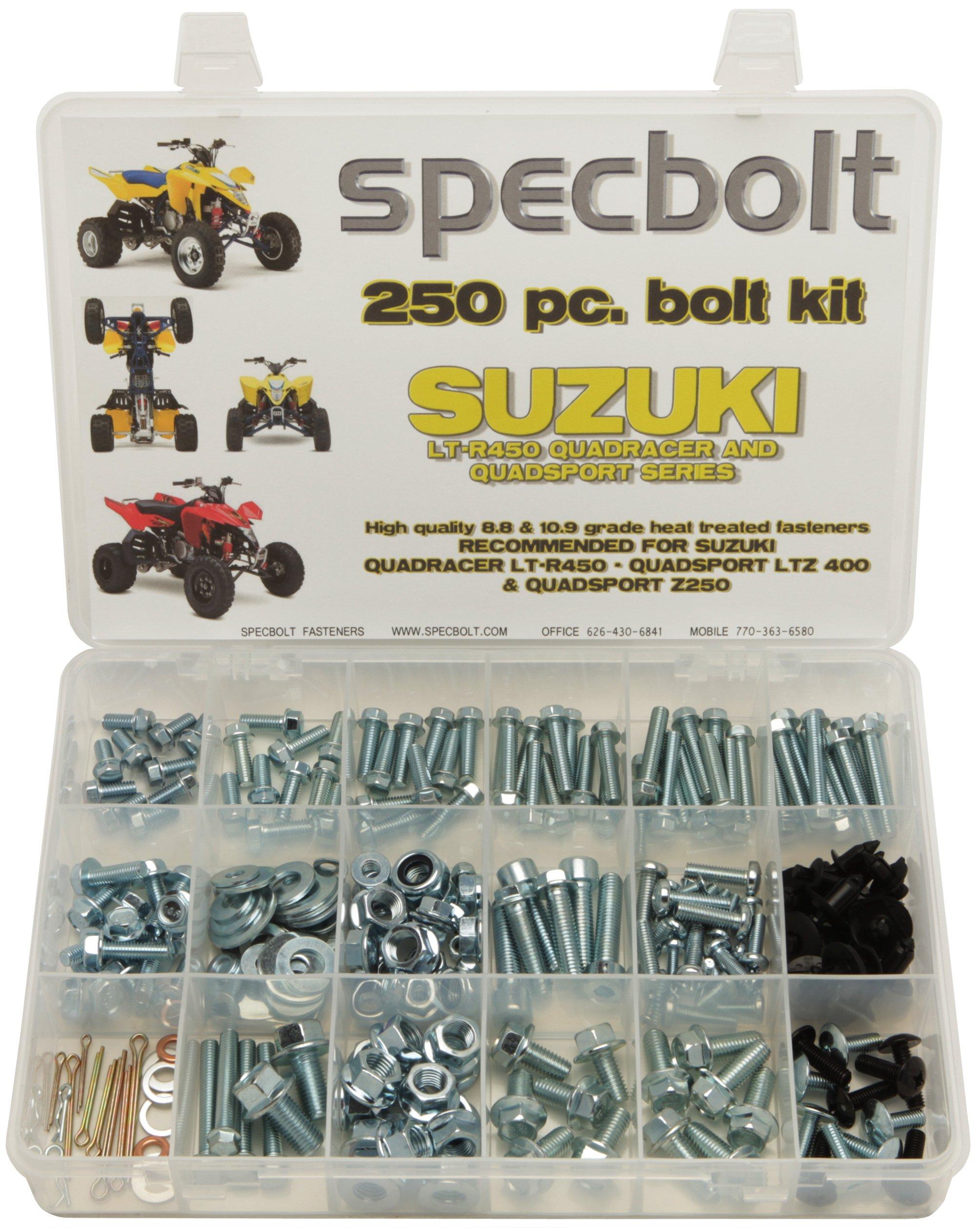 250pc Specbolt Suzuki LT-R450 LTZ400 Z250 ATV Bolt Kit for Maintenance & Restoration OEM Spec Fasteners LT450R LTR450 Z400 ATV LTZ250