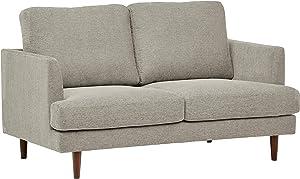 "Amazon Brand – Rivet Goodwin Modern Loveseat Sofa, 61.8""W, Light Gray"