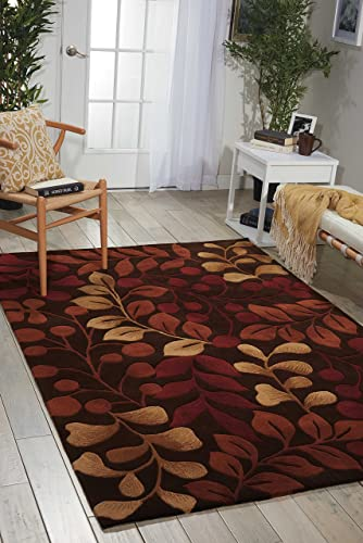 Nourison Contour Chocolate Rectangle Area Rug, 8-Feet by 10-Feet 6-Inches 8 x 10 6
