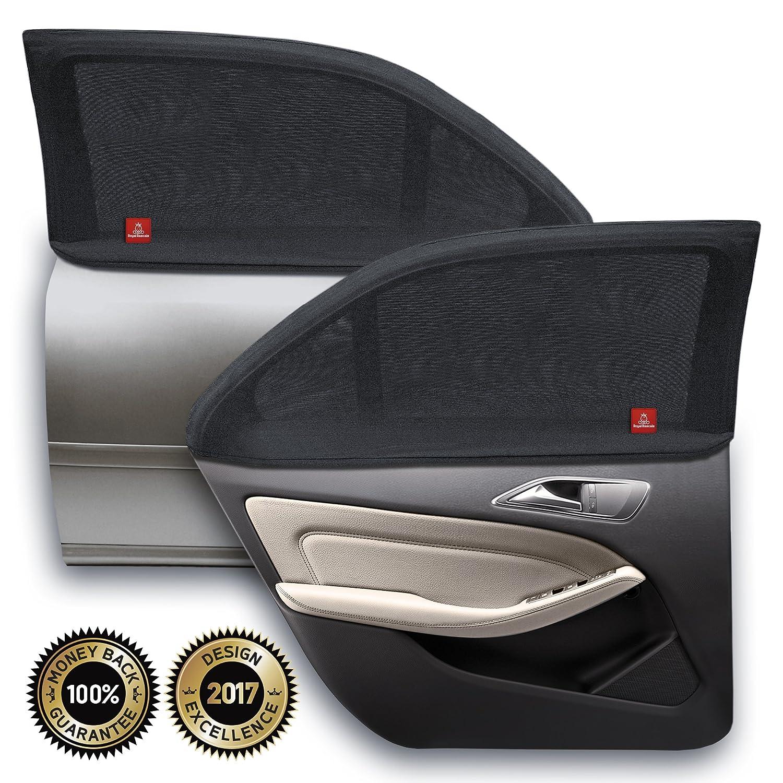 ROYAL RASCALS | Chaussette pour vitre x2 │PROTECTION 40+ contre les rayons UV nocifs │Couvre la vitre à 100% │ Taille universelle pour toutes les voitures │matériel haute qualité ¬| Anti-ébloui