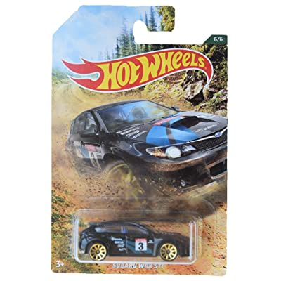 HOT Wheels 1:64 Scale Black Subaru WRX STI 6/6: Toys & Games