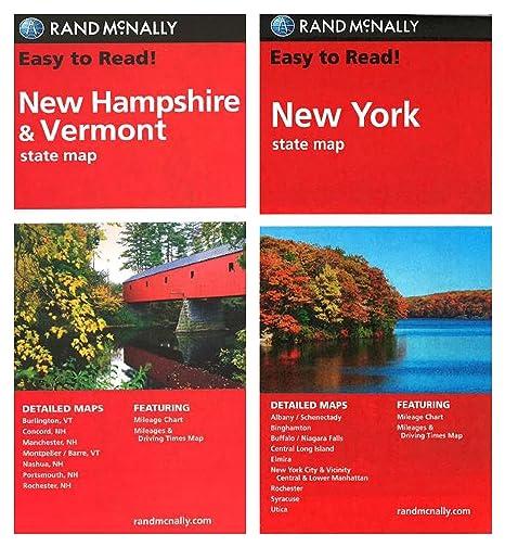 Amazon.com : Rand McNally State Maps: New Hampshire/Vermont ...