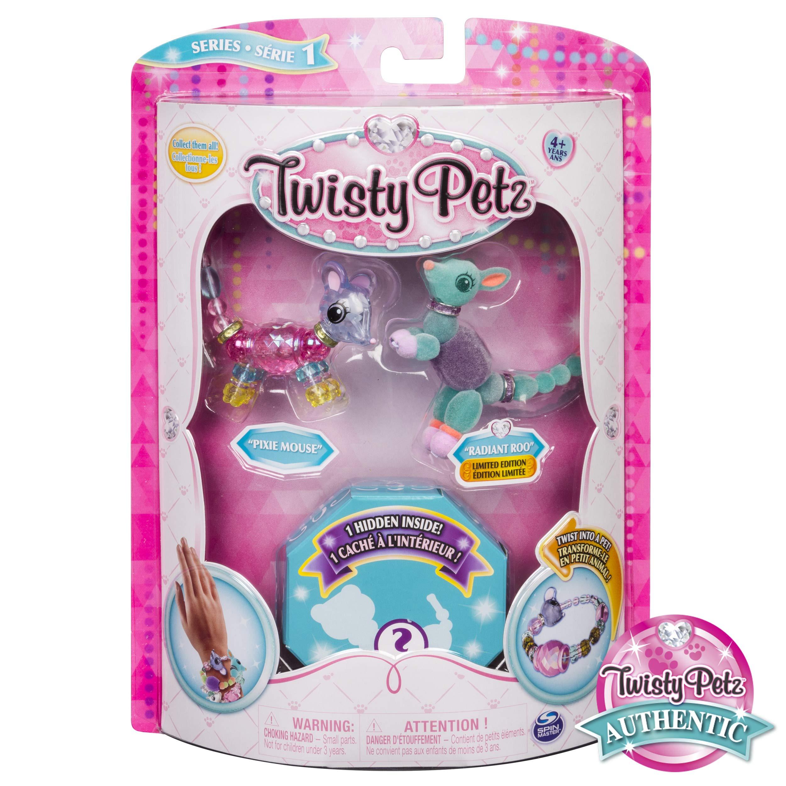 Twisty Petz Collectible Bracelet Set, Mouse, Roo & Surprise Pet 3-Pack