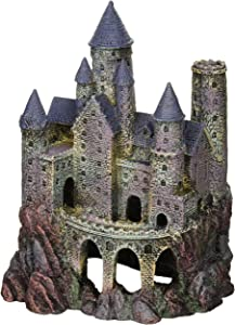 Penn-Plax Wizard's Castle Aquarium Decoration Hand Painted with Realistic Details Over 10 Inches High, Multi-Color (RRW8)