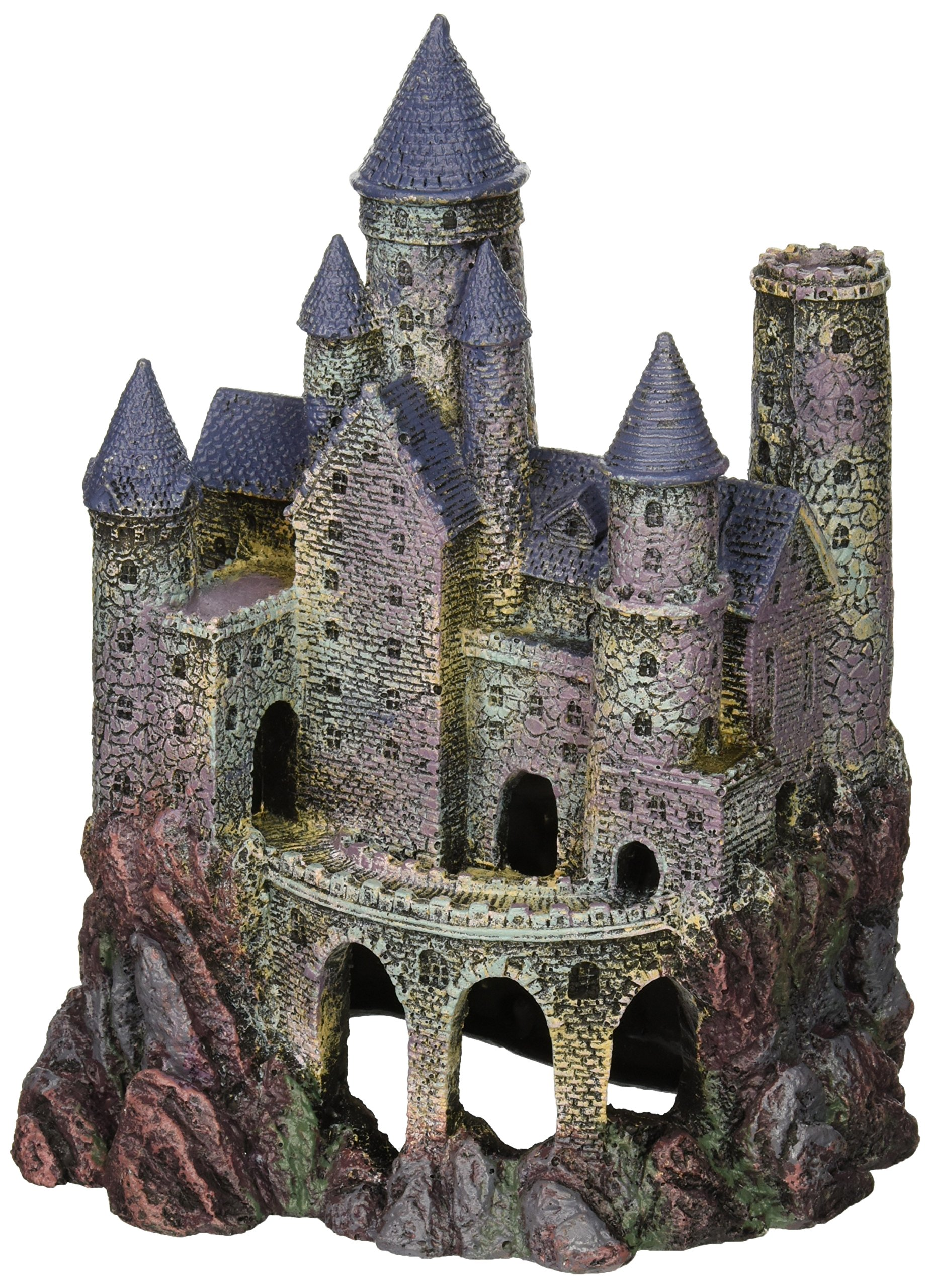Penn Plax Wizard's Castle Aquarium Decoration Hand Painted with Realistic Details Over 10 Inches High by Penn Plax