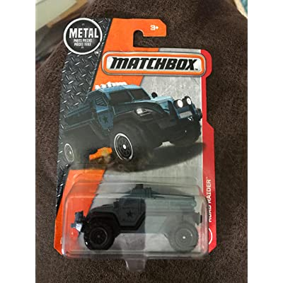 Matchbox 2020 MBX Adventure City Road Raider (Military Truck) 67/125, Blue Gray: Toys & Games